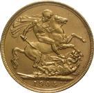 AUSTRALIA 1904 GOLD SOVEREIGN - KING EDWARD VII - S
